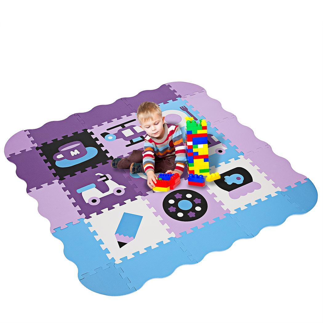 Baby Non-Toxic Extra Thick Foam Large with Gate Fence Crawling Play Mat 1