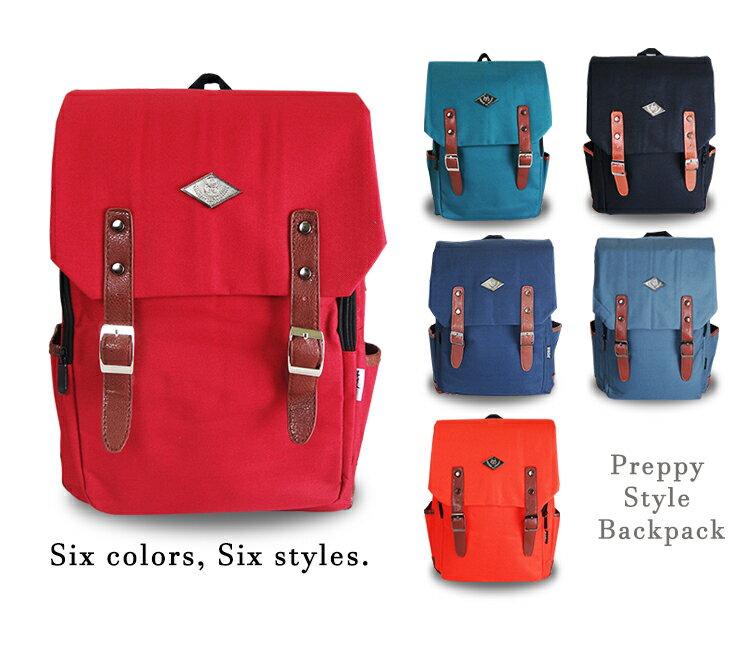 《熊熊先生》韓版學院風後背包 高質感帆布 素面 休閒包 書包 旅遊包 大容量