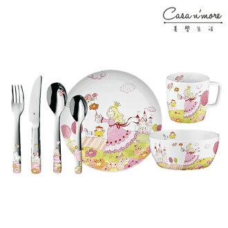 WMF 公主兒童餐具組7入 不鏽鋼 湯匙 餐叉 餐刀 餐碗 餐盤 馬克杯