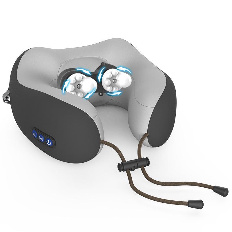 【 CSMART+】電動U型肩頸按摩枕 多功能肩頸椎電動按摩器