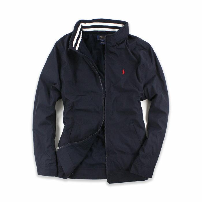 美國百分百【全新真品】Ralph Lauren 小馬 RL 連帽 外套 騎士 夾克 風衣 POLO 深藍 S號此為美國青年版 H233
