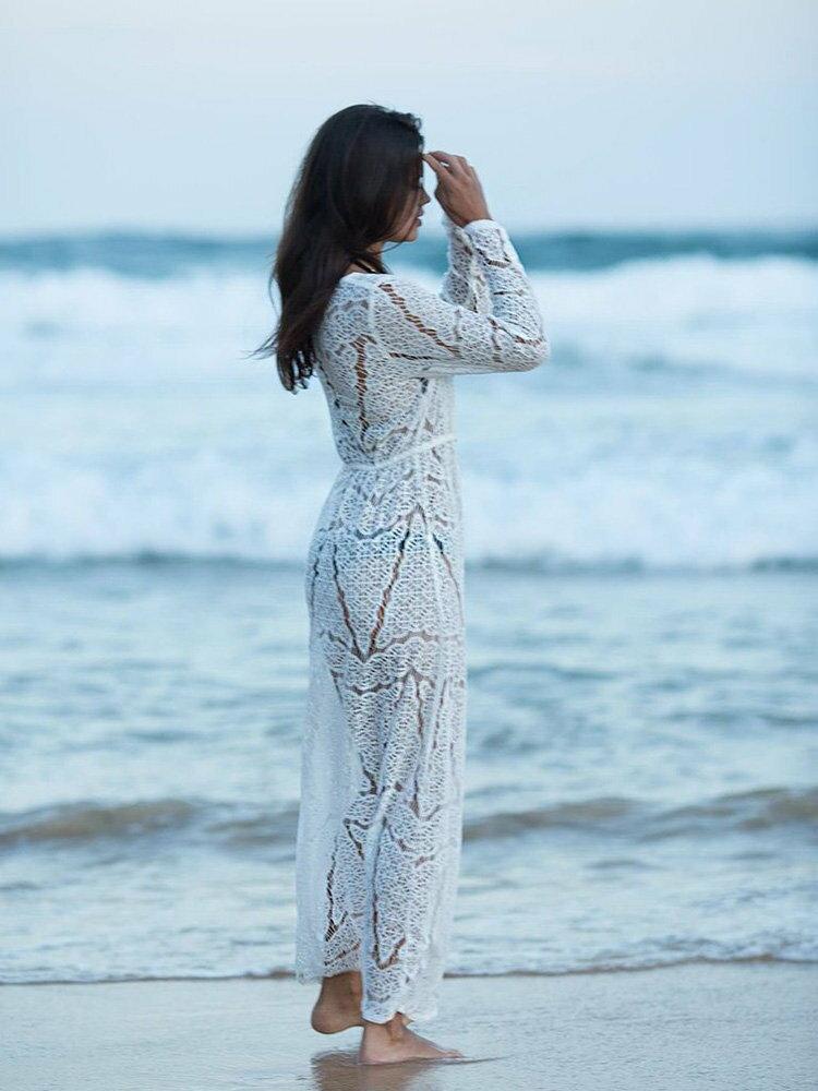 罩衫 鏤空 針織 綁帶 開襟 外套 長款 沙灘 比基尼 罩衫【ZS360】 BOBI  04 / 26 2