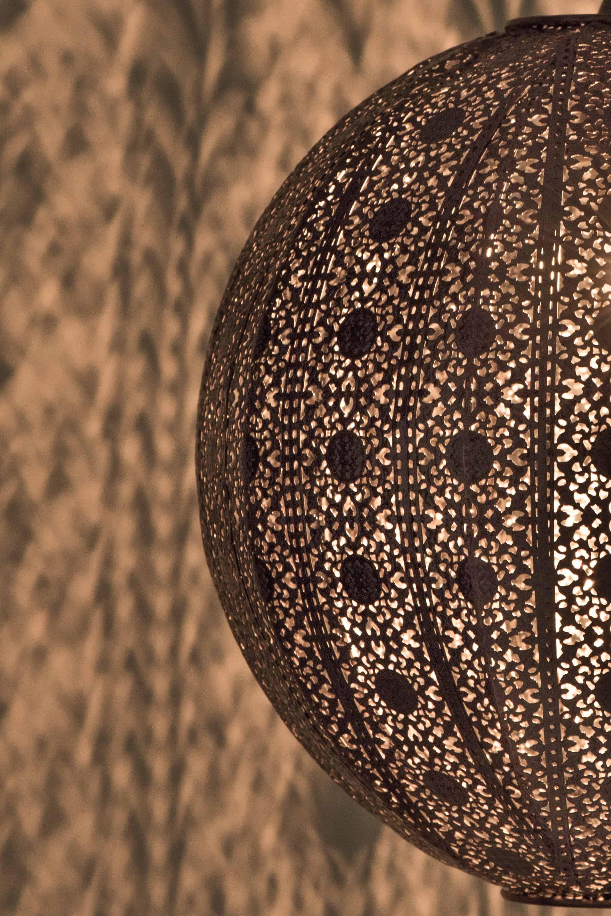 紅銅刷黑蕾絲花邊圓形吊燈-BNL00075 3