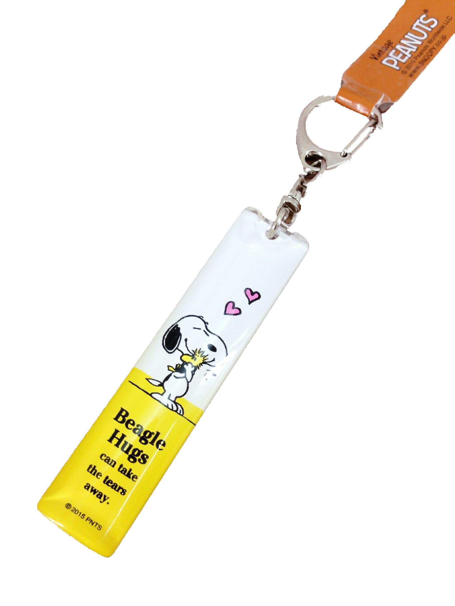 【真愛日本】16051100054壓克力橢圓鎖圈-抱鳥黃  史努比 SNOOPY  吊飾 鑰匙圈 飾品 正品 限量 預購
