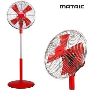 【集雅社】日本松木MATRIC Magic魔幻紅12吋 金屬立扇MG-AF1202D 純銅線馬達 電風扇 1202D