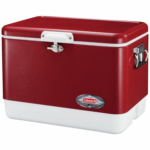 ├登山樂┤美國 Coleman 51L不鏽鋼冰箱 冷冽紅 大容量 冰桶 # CM-2018J