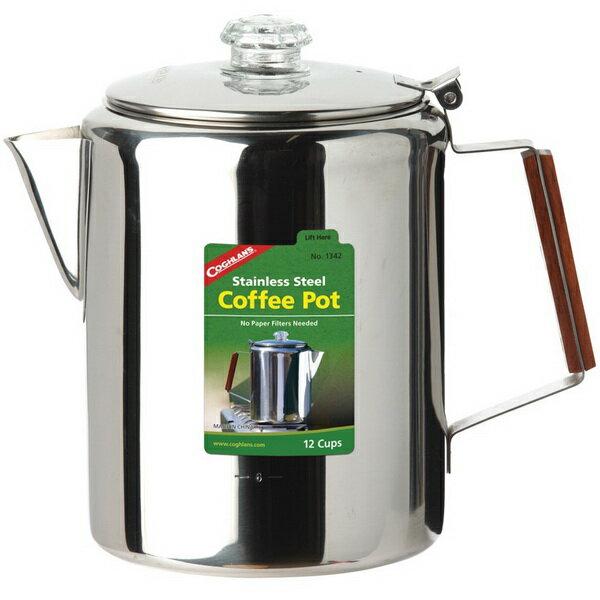 ~登山樂~加拿大 COGHLAN #x27 S 不鏽鋼咖啡壺 #1342