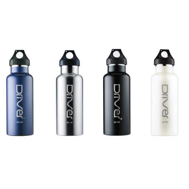 ├登山樂┤Driver 真空運動水瓶 480ml-光炫黑、寶格藍、不鏽鋼、珍珠白  #FJ-DR1001