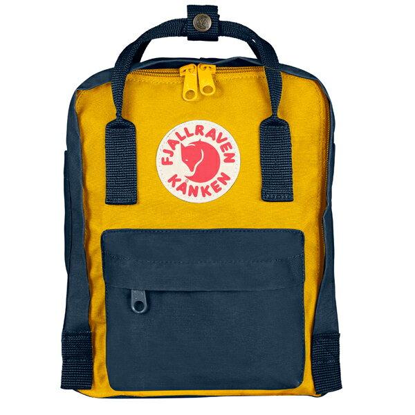 ├登山樂┤瑞典Fjallraven Kanken mini  復古後背包/方型書包 # 23561 (560/141 Navy Blue/Warm Yellow-海軍藍/溫暖黃)
