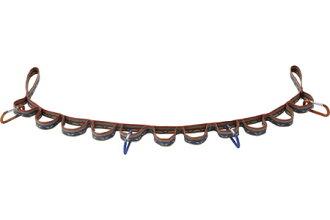 ├登山樂┤日本LOGOS 印地安系列 彩色掛勾編織帶117cm 多孔式掛物繩帶 D型環 掛勾 # 72685102