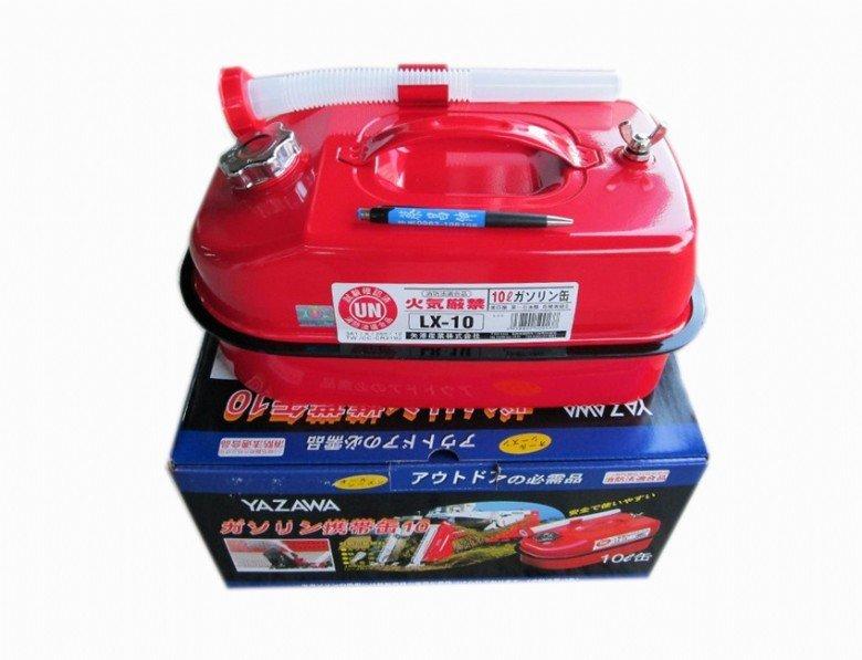 ├登山樂┤日本 YAZAWA 軍規級儲油桶 手提油桶 柴油桶 儲油桶 10L 紅 # LX-10