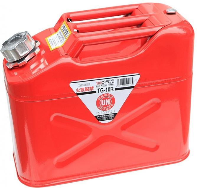 ├登山樂┤日本 YAZAWA 軍規級儲油桶10L 紅 # TG-10R (新型號CRT-10)