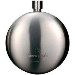 ├登山樂┤日本Snow Peak 鈦金屬凸圓形酒壺 190 ml 酒瓶 # T-015