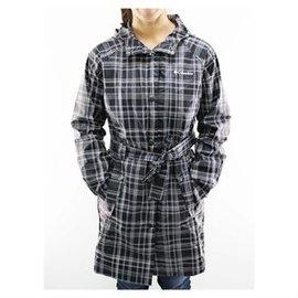 ※超便宜※美國 Columbia 哥倫比亞 格紋時尚款女用風雨衣大衣