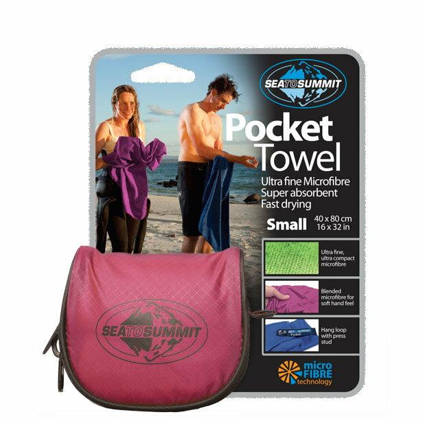 ├登山樂┤澳洲 Sea To Summit-L/桃紅  Pocket Towel  口袋型快乾毛巾- # APTL