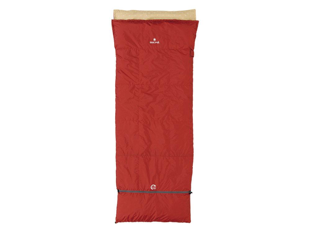 ├登山樂┤日本Snow Peak 方形露營睡袋 可水洗羽絨 舒適3度 # BDD-101