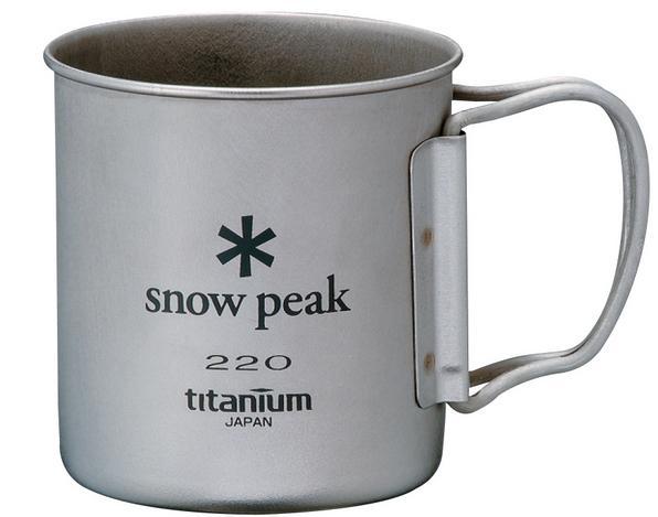 ├登山樂┤日本Snow Peak 新款無收納袋 鈦金屬單層杯 折疊把手 隨身杯 220ml # MG-041FHR
