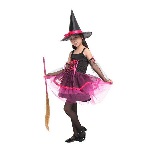 G-0195A玫紅網紗女巫裝化裝舞會表演造型派對服(M.L.XL)