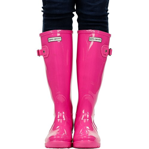 Exotic Identity Women's Original Tall Knee-High Rain Boot 5