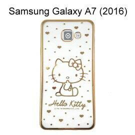 Hello Kitty 電鍍軟殼 [點點] 金 Samsung A710Y Galaxy A7 (2016)【三麗鷗正版授權】