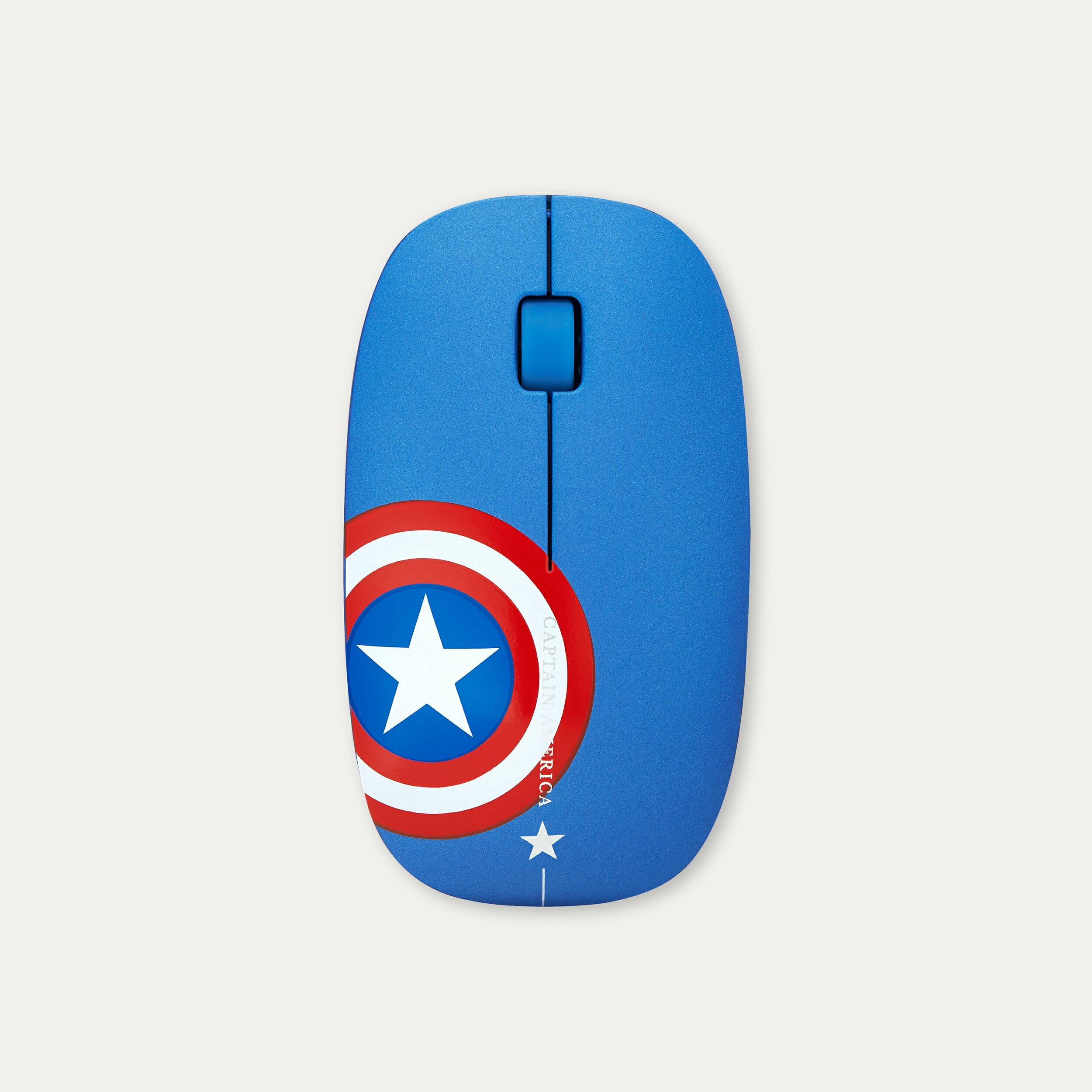 infoThink 漫威 復仇者聯盟系列 〈美國隊長 Captain America〉無線光學靜音滑鼠 無線滑鼠 電腦週邊 正版3C