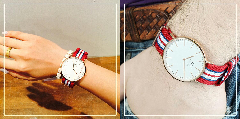 瑞典正品代購 Daniel Wellington 0112DW 玫瑰金 尼龍 帆布錶帶 男錶手錶腕錶 40MM 1
