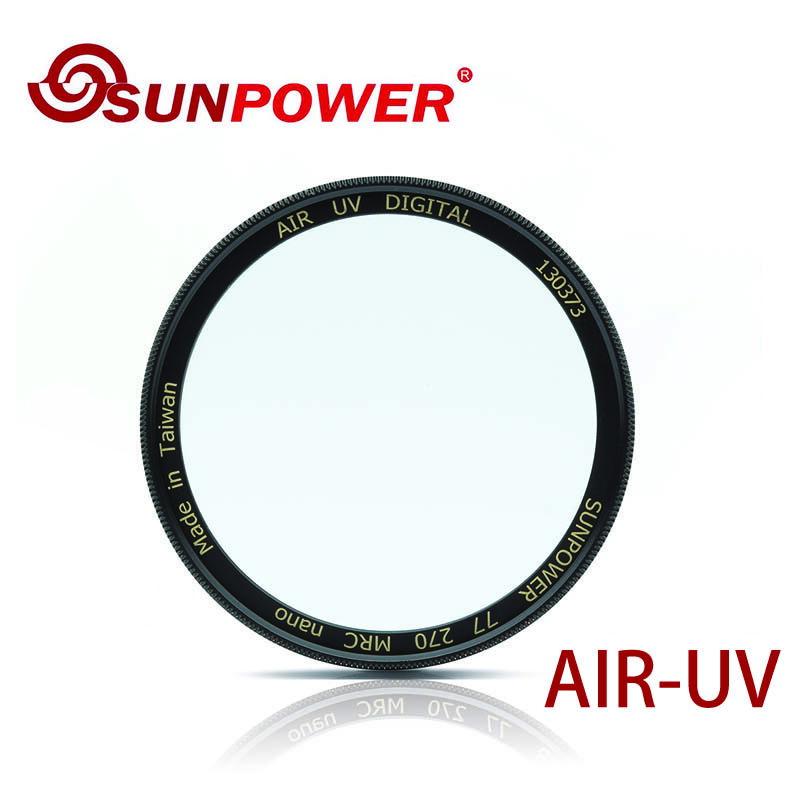 ◎相機專家◎ SUNPOWER TOP1 AIR Filters UV 62mm 超薄銅框保護鏡 防潑水 抗靜電 湧蓮公司貨