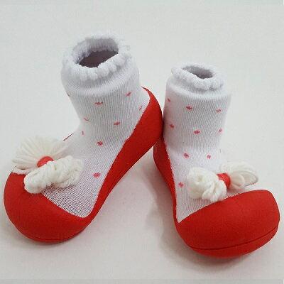 ~破盤平均1雙 545起~韓國~Attipas~快樂腳襪型學步鞋~紅點領結