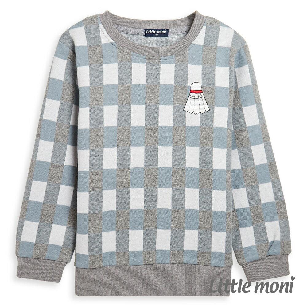 Little moni 圓領格紋上衣-深天藍(好窩生活節) 0