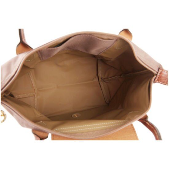 [短柄S號] 香檳金 國外Outlet代購正品 法國巴黎 Longchamp [1621-S號]  購物袋防水尼龍手提肩背水餃包 3