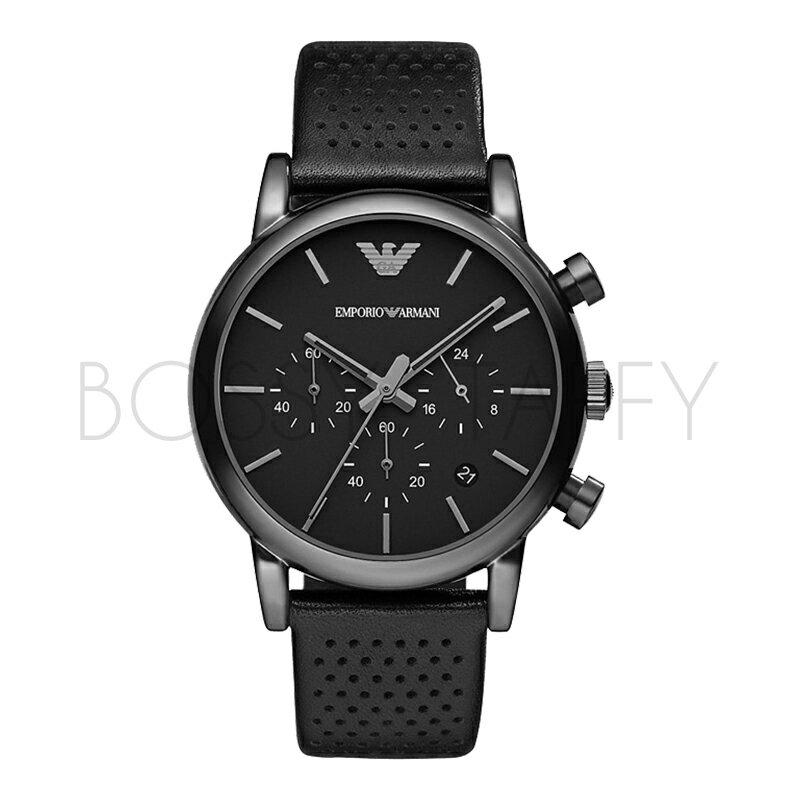 AR1737 ARMANI 亞曼尼 經典優雅皮帶多功能商務石英錶 男錶