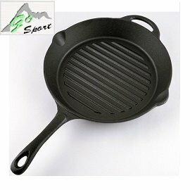 [ GoSport ] 圓型橫紋鑄鐵烤盤 / 煎鍋 荷蘭鍋 附有收納袋 / 40441