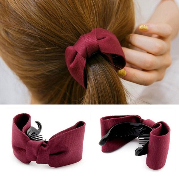 日韓版新款 髮飾髮夾馬尾夾扣 蝴蝶結髮夾抓夾香蕉夾