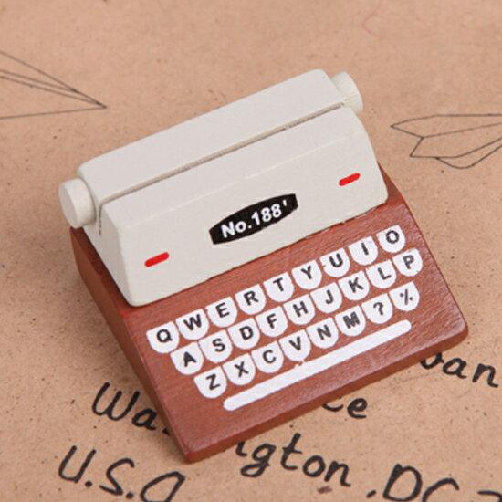 ♚MY COLOR♚創意打印機便籤夾 復古 留言夾 名片夾 卡片夾 婚禮小物 提醒 照片 立體 紙條【Q228-1】