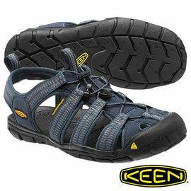 Keen Clearwater CNX 男 輕量護趾水陸兩用鞋 灰藍/淺灰 1012861