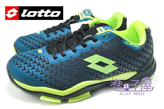 【巷子屋】義大利第一品牌-LOTTO樂得 男款五大機能無車縫膠印輕量訓練運動跑鞋 [2766] 藍螢光綠 超值價$790
