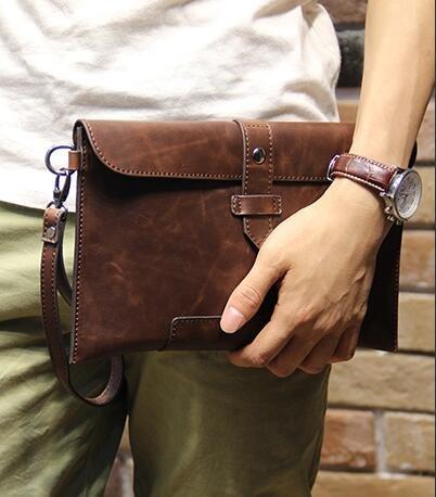 FINDSENSE Z1 韓國 時尚 潮 男 皮質 商務 手拿包 皮夾包 公事包 二色