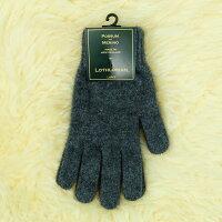 保暖配件推薦紐西蘭貂毛羊毛手套*超輕暖*素面炭灰色