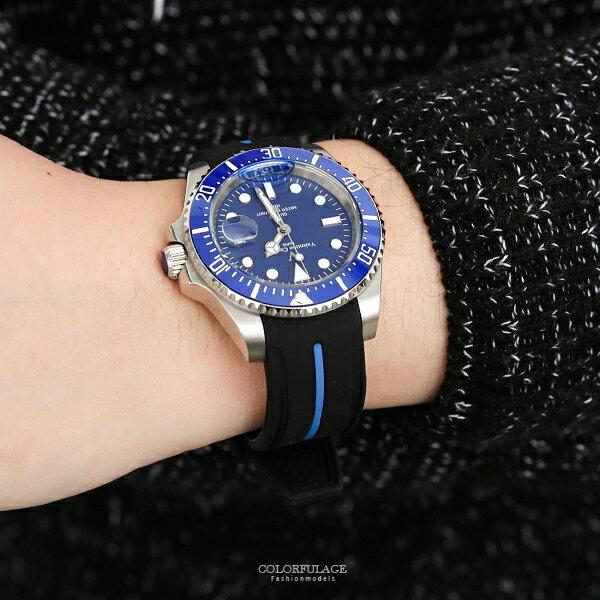 范倫鐵諾˙古柏防水夜光膠錶正品原廠公司貨【NEV29】柒彩年代