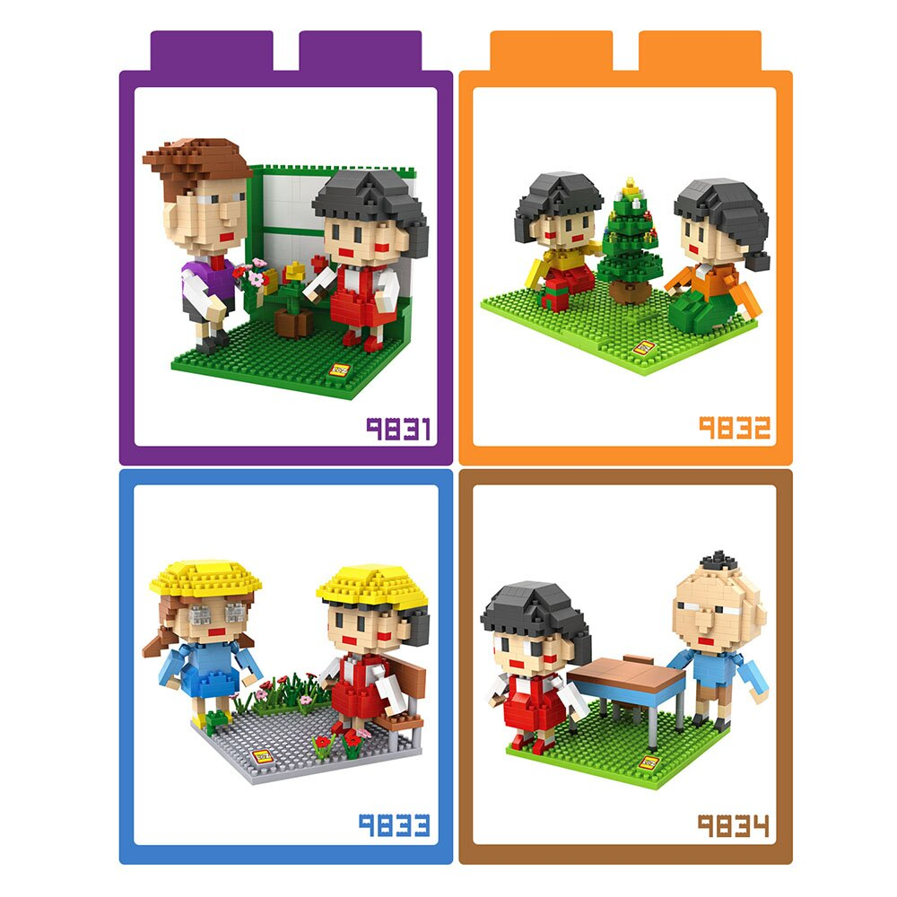【微笑商城】LOZ 迷你鑽石小積木 小丸子系列 樂高式 組合玩具 益智玩具 原廠正版