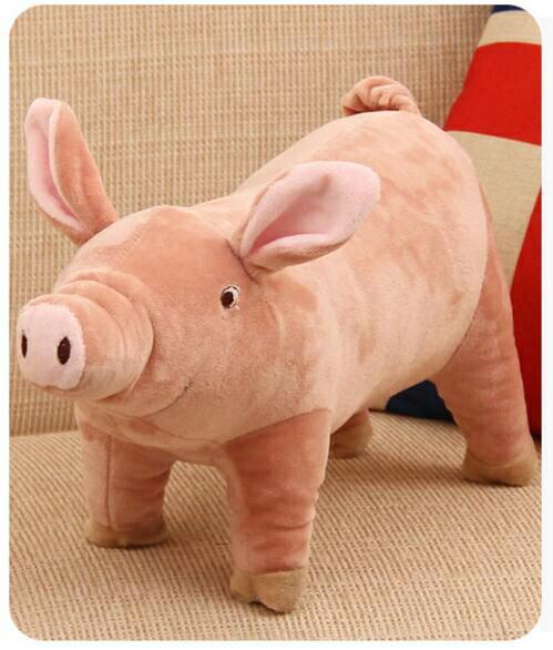 【葉子小舖】豬娃娃/母豬公仔/粉紅豬玩偶/毛絨玩具/小豬抱枕/小豬娃娃/豬寶寶/生日禮物/情人節送禮/交換禮物/女生