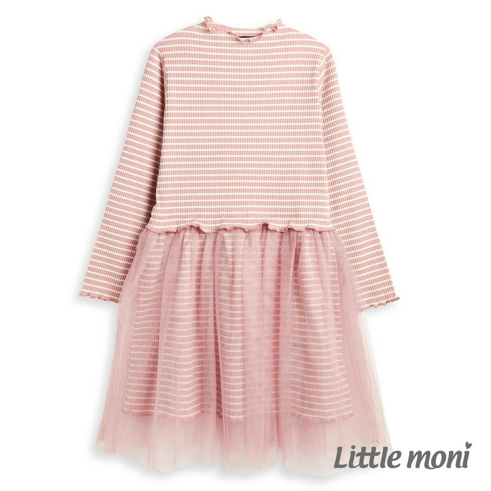 Little moni 拼接紗裙洋裝-粉紅(好窩生活節) 1