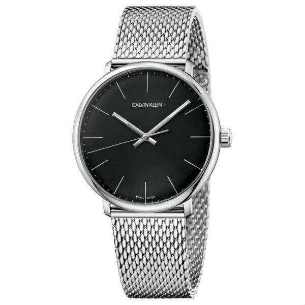 CalvinKlein巔峰系列(K8M21121)銀色米蘭簡約時尚腕錶黑面39mm