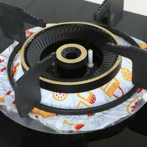 美麗大街【BF537E20】煤氣灶防油墊家用8張裝鋁箔耐高溫廚房灶具防油隔熱墊