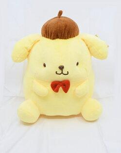 X射線【C052890】布丁狗Pompompurin12吋玩偶,絨毛填充玩偶玩具公仔抱枕靠枕娃娃
