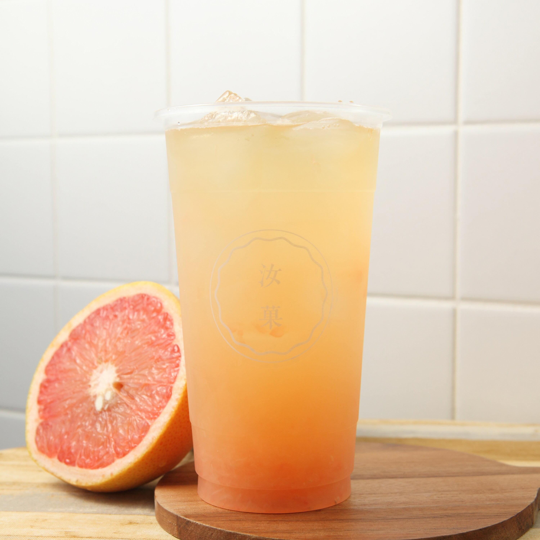 【汝菓】葡萄柚青茶 L (冷) 700 c.c.★茶飲★水果風味★電子票券