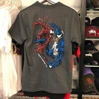 Marvel 男裝服飾推薦到BEETLE 現貨 BAIT X MARVEL VENOM CARNAGE TEE 毒液 血蜘蛛 灰色 短T 漫威就在BEETLE PLUS推薦Marvel 男裝服飾