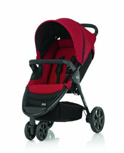 Britax - B-Agile單手收豪華三輪手推車 -紅 (附前扶手) 加購Britax - Baby-Safe提籃享特價優惠! - 限時優惠好康折扣