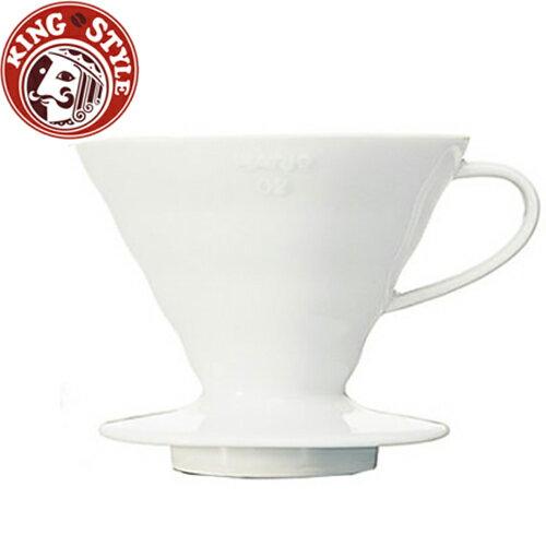 金時代書香咖啡 HARIO V60白色02磁石濾杯1~4杯 / VDC-02W