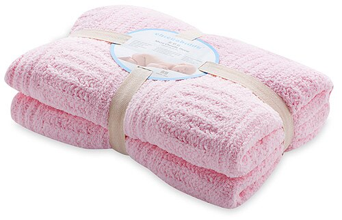 【淘氣寶寶】奇哥 立體格紋柔舒毯(大-100×140公分)(粉色) 【奇哥正品】